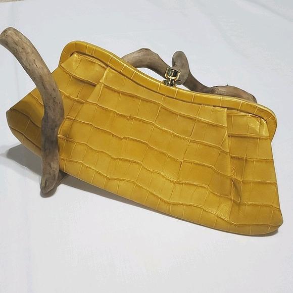 Banana Republic Mock Crocodile Clutch Purse